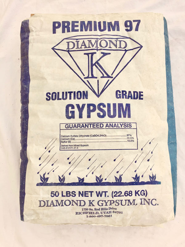 50 LB BAG GYPSUM
