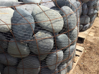 BASKETS OF LARGE MEXICAN PEBBLES - ASST SIZES